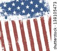 American flag grunge background. Vector, EPS10 - stock vector