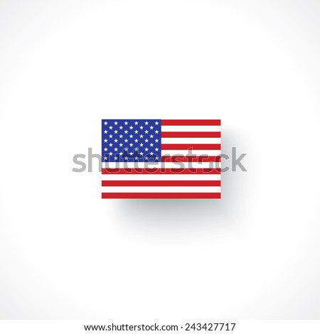 american flag isolated on white - stock vector