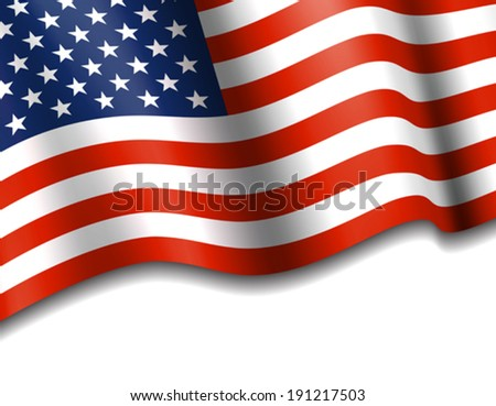 American Flag Stars & Stripes Background - stock vector