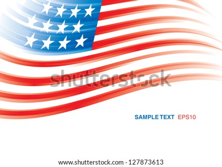 American Flag 4th july american independence day vector - stock vector