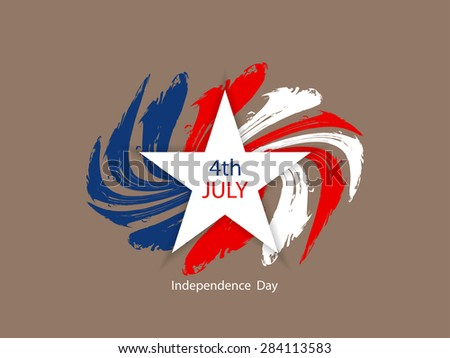 American flag theme background design for independence day. - stock vector