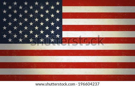 American Flag, USA Flag, 4th of July independence day background with old antique grunge texture,  July 4th, Memorial Day, Independence day, Easy to edit. Perfect for invitations or announcements. - stock vector