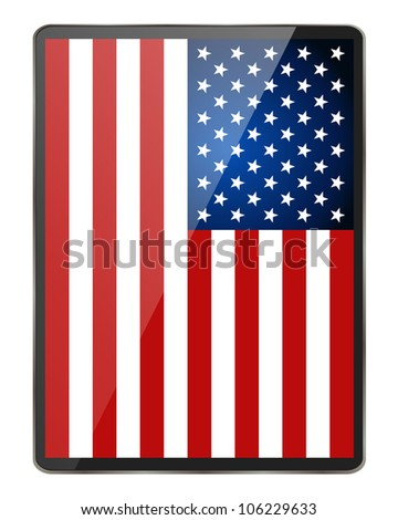 American Flag. Vector illustration. - stock vector