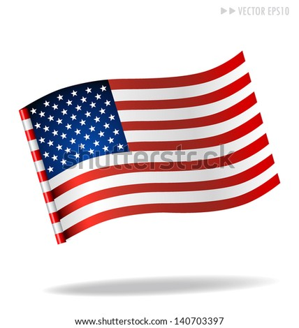 American Flag. Vector illustration. - stock vector