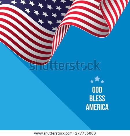 American flag vector illustration - stock vector