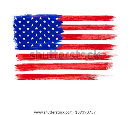 American Flag vector. Independence Day, 4 th July - stock vector
