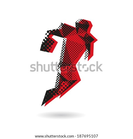 American football abstract isolated on a white background, vector illustration - stock vector