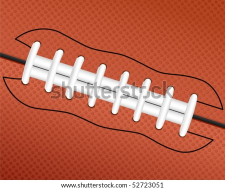 American football ball background. Vector illustration. - stock vector