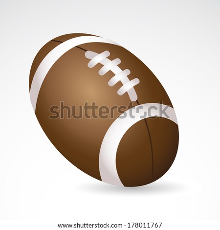 American football ball isolated on white background. VECTOR illustration. - stock vector