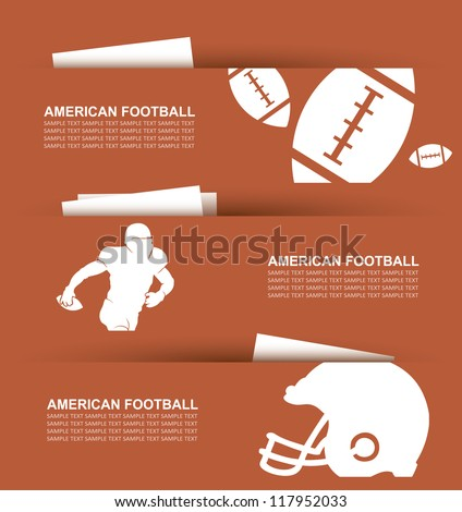 American football banners - vector illustration - stock vector