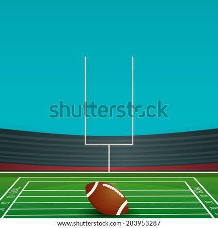 American football card - stock vector