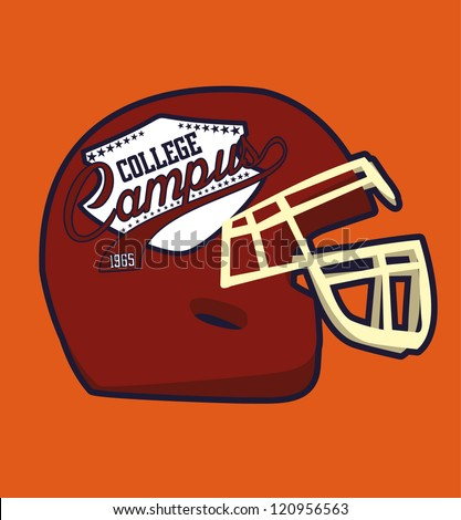 american football college team - stock vector