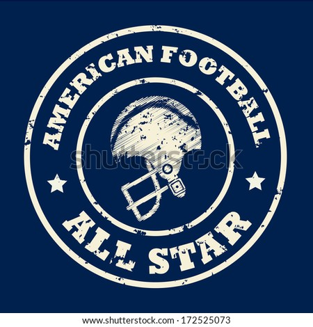 american football design over blue   background vector illustration  - stock vector