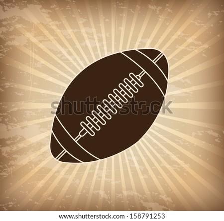 american football design over grunge background vector illustration  - stock vector