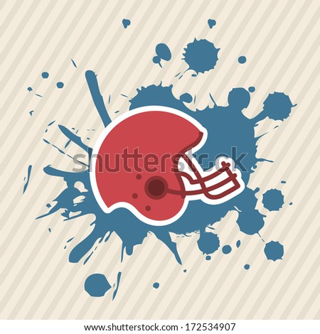 american football design over  lineal background vector illustration  - stock vector