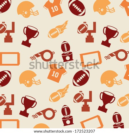 american football design over pink  background vector illustration  - stock vector