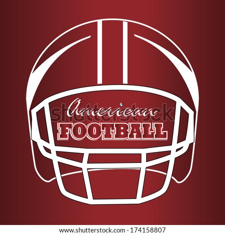 american football design over  red  background vector illustration  - stock vector