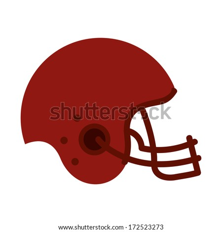 american football design over white  background vector illustration  - stock vector