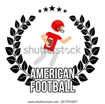 american football design, vector illustration eps10 graphic  - stock vector