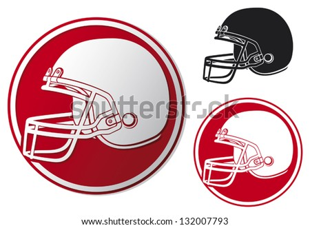 american football helmet icon (helmet football team, football helmet symbol, american football helmet label) - stock vector