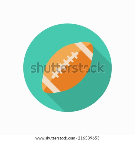 american football icon illustration - stock vector