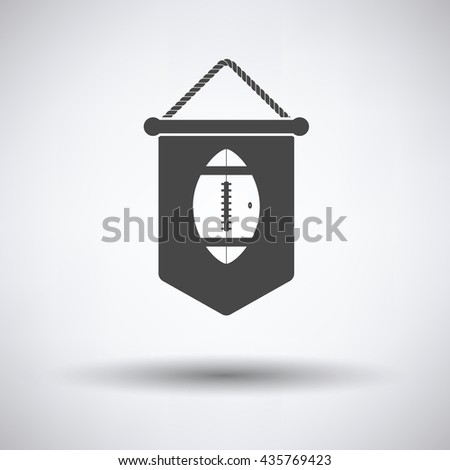American football pennant icon. Vector illustration. - stock vector