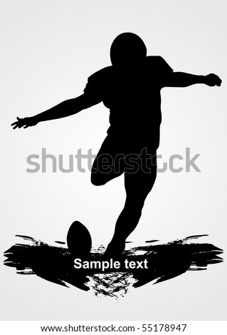 american football player, vector illustration - stock vector