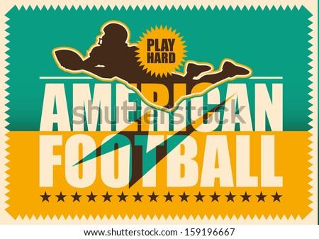 American football poster. Vector illustration. - stock vector