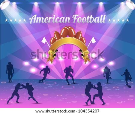 American Football Shield Vector Design - stock vector