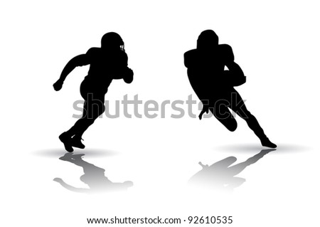 American Football Silhouette - stock vector