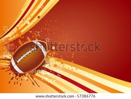 american football sport design element - stock vector