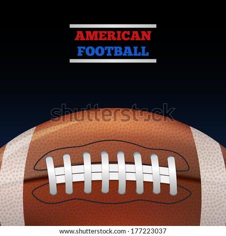 American Football. Vector - stock vector