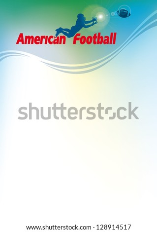 american football, vector background for blank - stock vector