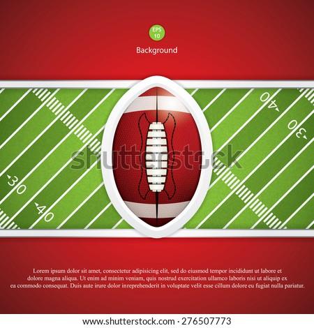 American football. Vector illustration - stock vector