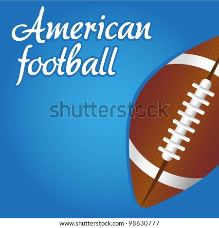american footnall illustration over blue background - stock vector