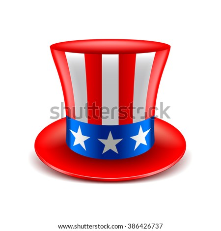 American hat independence day isolated vector illustration - stock vector