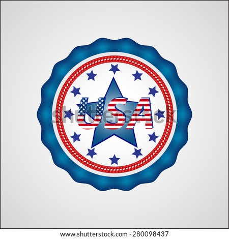 American Independence Day. Holiday badge. EPS 10 - stock vector