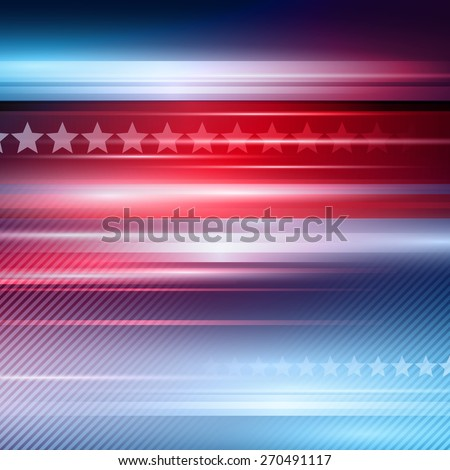 American Independence Day Vector striped red and blue background  - stock vector