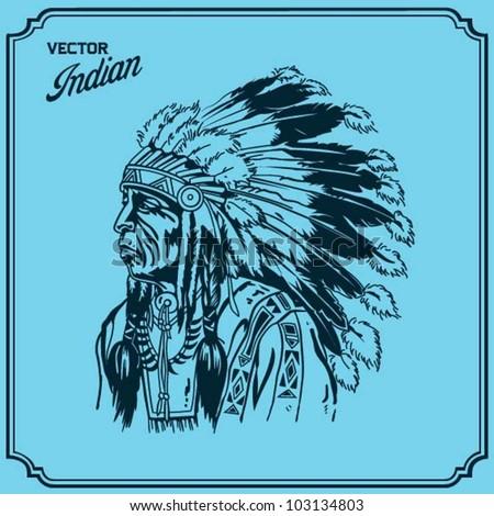 American Indian - stock vector