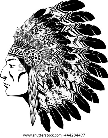 American Indian Chief - stock vector