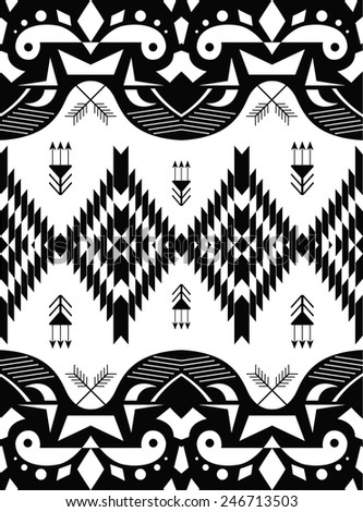 American indian ethnic geometric seamless pattern. - stock vector