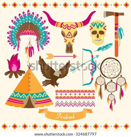 American Indian Vector Design Illustration - stock vector