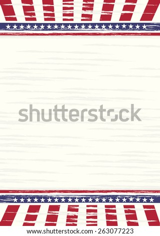 American old style illustration at A4 sheet size  - stock vector