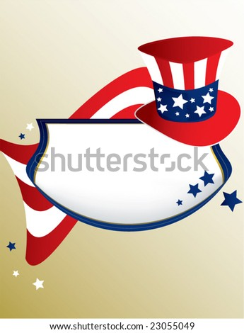 American patriotic banner - vector - stock vector