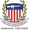 American patriotic emblem.Second amendment-U.S. constitution - stock vector