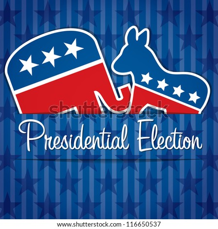American presidential election card/poster in vector format. - stock vector
