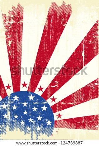 American scratched Flag. An american grunge flag for you - stock vector