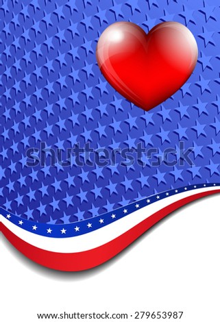 American, Stars and Stripes Background - There are more stars outside the mask, for you to mask as you like - stock vector