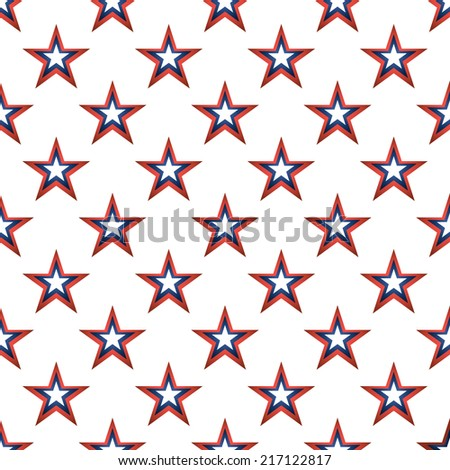 American stars seamless pattern. - stock vector