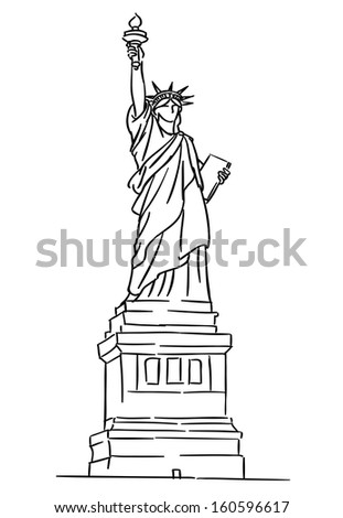 American Statue of Liberty for travel industry design. Jpeg version also available in gallery - stock vector